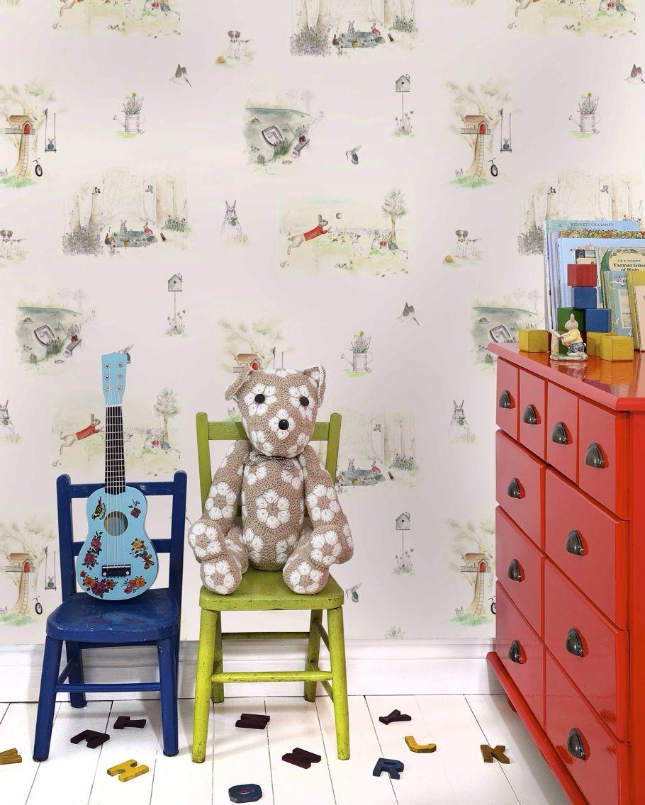 Kids Wallpaper For Bedroom Kids Room Childrens Premium Wallpaper Vintage Inspired Www