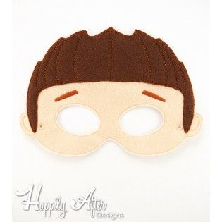 Spikey Hair Boy Mask ITH Embroidery Design