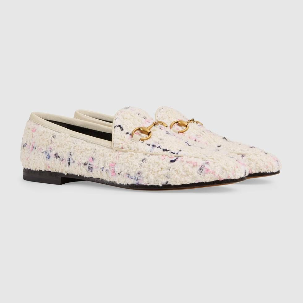 136b7d1fa128 Shop the Gucci Jordaan tweed loafer by Gucci. Inspired by the multi-hued  tweeds