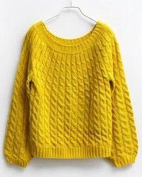 Yellow Cannabis Vintage Short Sweater