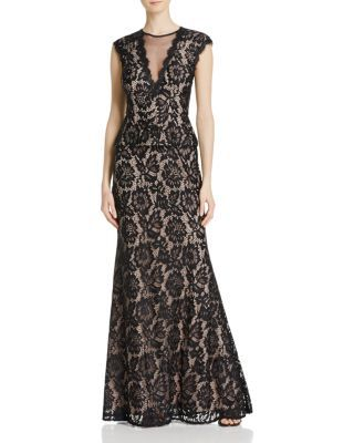 Avery G Illusion Lace Gown Bloomingdales Wedding Dresses