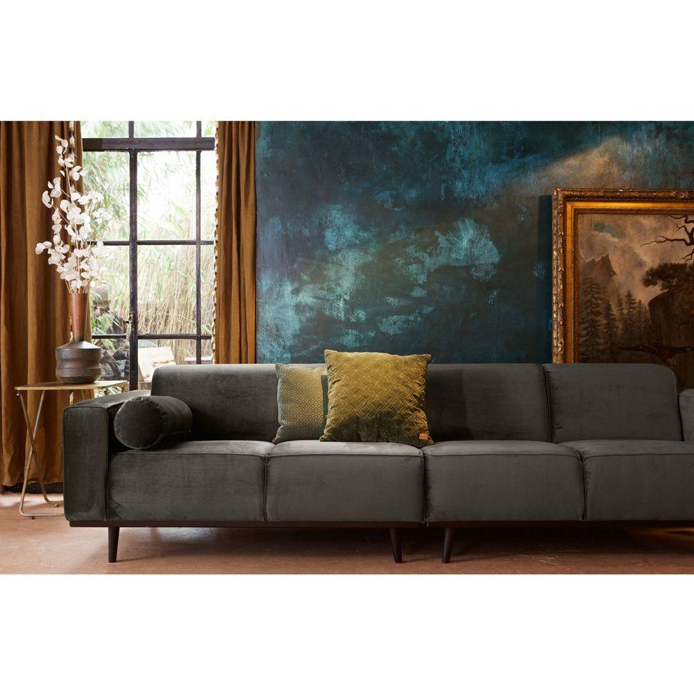 4 Sitzer Sofa STATEMENT Samt Dunkelgrün Couch Garnitur Lederesofa  Couchgarnitur Auswahl: 1 X 4 Sitzer