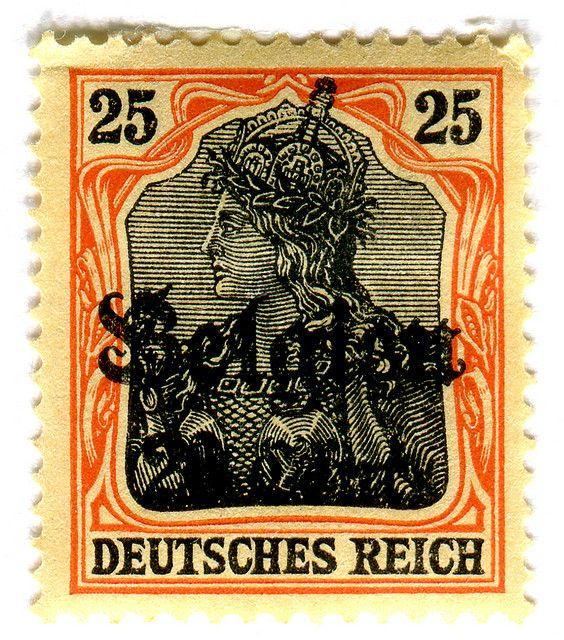 Germany Postage Stamp Belgien overprint Postage stamp