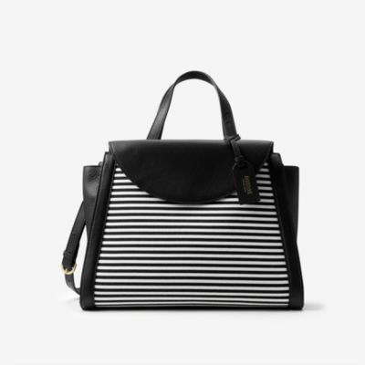 The A Satchel in Crosswalk Stripe