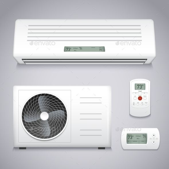 Air Conditioner Set Air Conditioning Services Air Conditioning