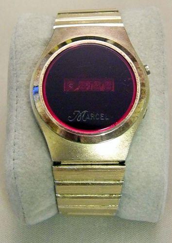 Vintage Marcel Men S Digital Led Wrist Watch 1970s Vintage