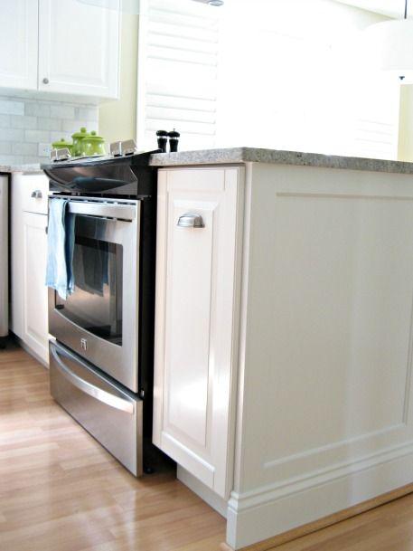 custom molding with ikea lidingo doors   Home kitchens ...