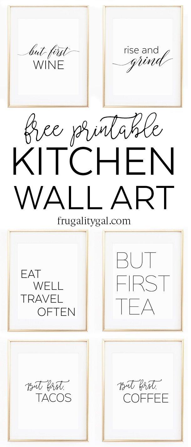 kitchen prints diy outdoor kits gallery wall printables free printable art apartment decor ideas black and