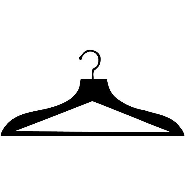 Clothes Hanger Silhouette Vinyl Sticker Customize On Line Fashion Liked On Polyvore Silhouette Cameo Freebies Silhouette Vinyl Silhouette Stencil