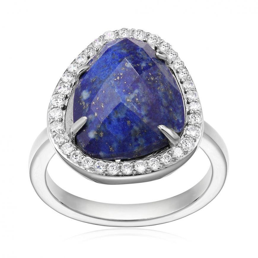 "Bremer Jewelry ELLE  ""Halo"" Sterling Silver Gemstone Fashion Ring"
