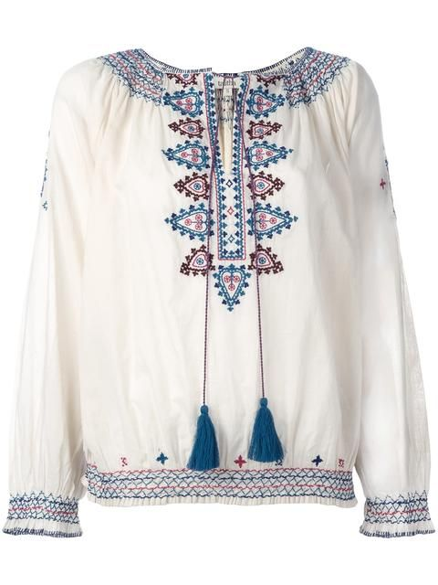 Comprar Talitha blusa con bordado de figuras.