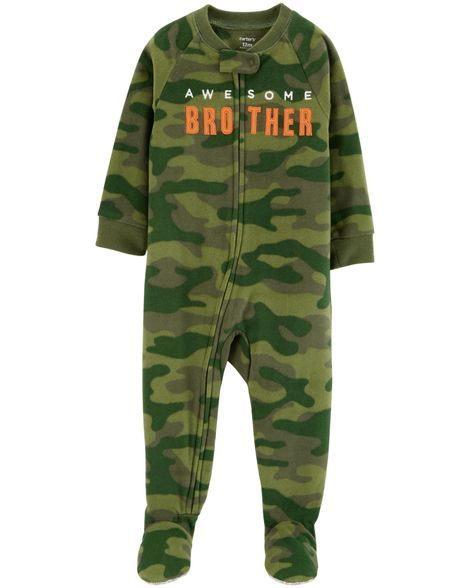 069146673 1-Piece Brother Fleece PJs