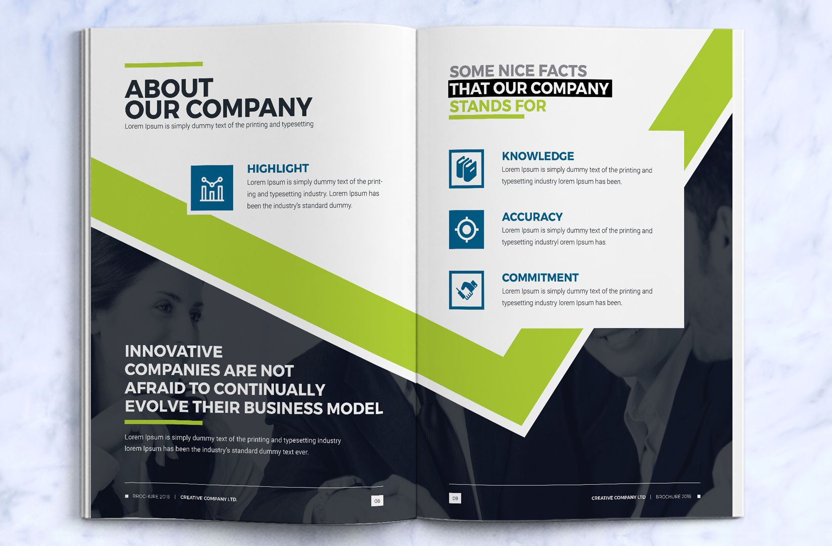 Business brochure design template indesign brochure for Design consultancy company profile