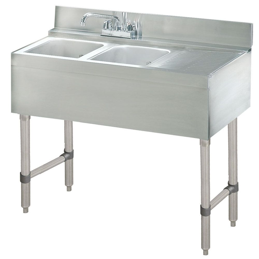 Advance Tabco CRB42L Lite Two Compartment Stainless Steel