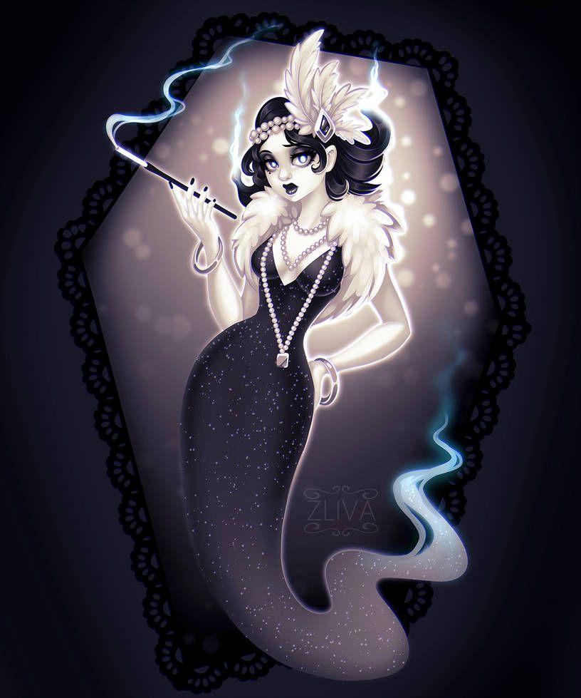 Ghost Girl by Zliva on DeviantArt  Ghost design, Anime ghost