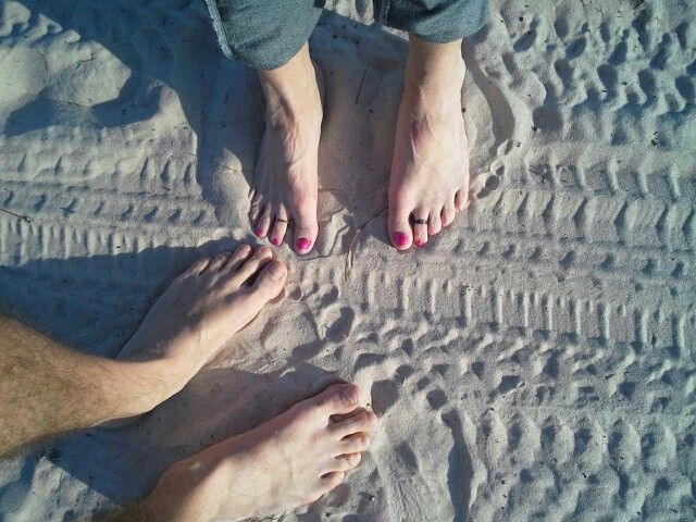 Our toes in the sand