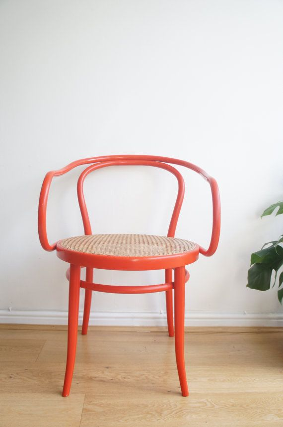 Vintage 50u0027s Rare Red Bentwood Ligna Chair Made In Czechoslovakia Design  Attributed To Thonet 209 Le Corbusier Chair