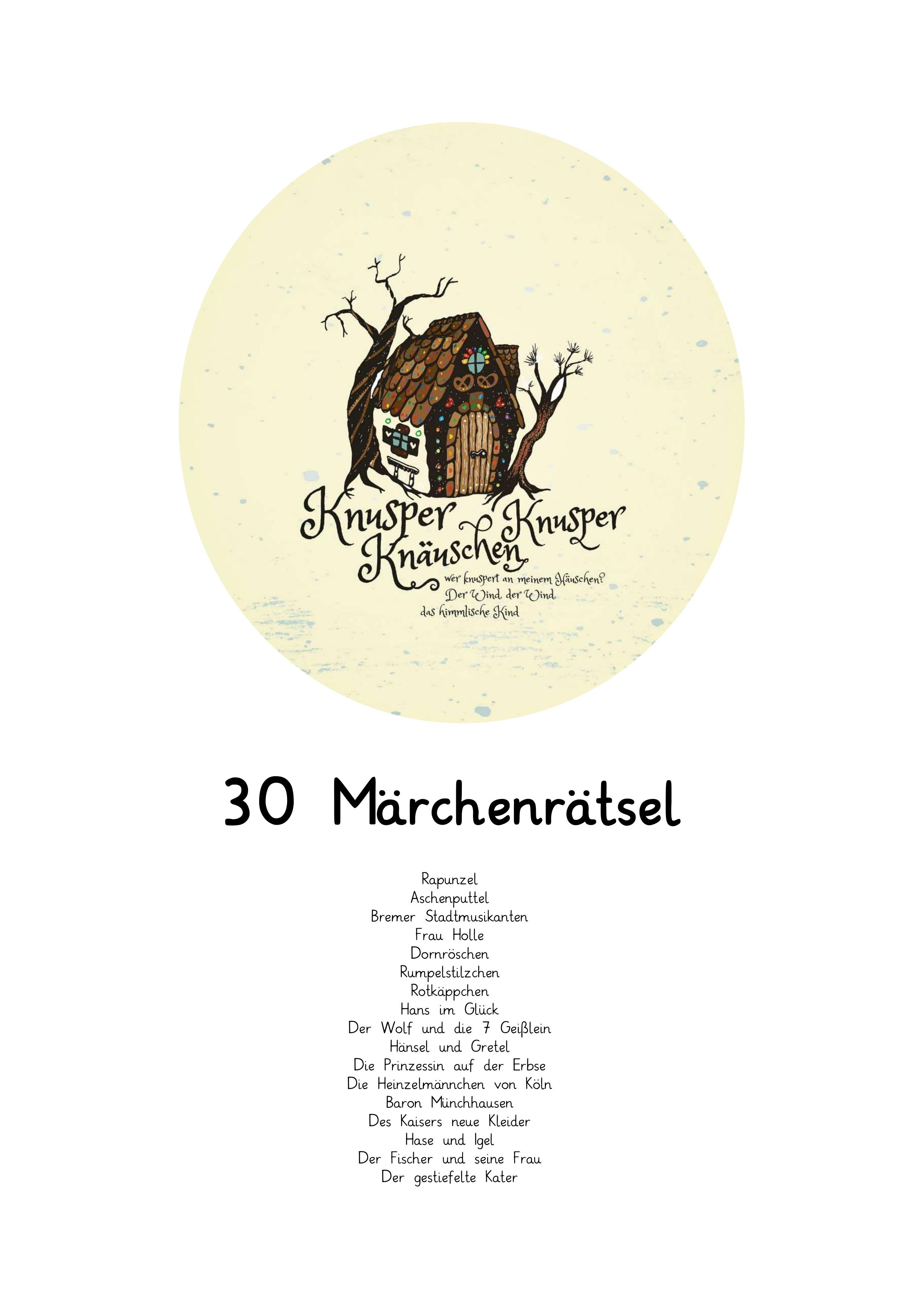 30 Ratsel Rund Um Marchen Unterrichtsmaterial Im Fach Deutsch Deutsch Unterricht Marchen Grundschule Und Gretel