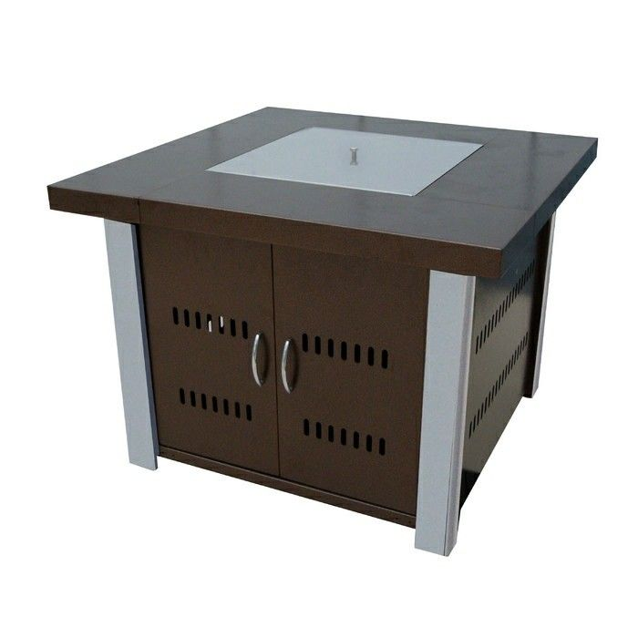 Az Patio Heaters Hiland Fire Pit In Hammered Bronze With Stainless Steel  Legs And Pit Cover