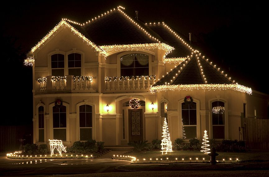 white Christmas lights for the roof - Outdoor Christmas Lights Ideas For The Roof School Christmas