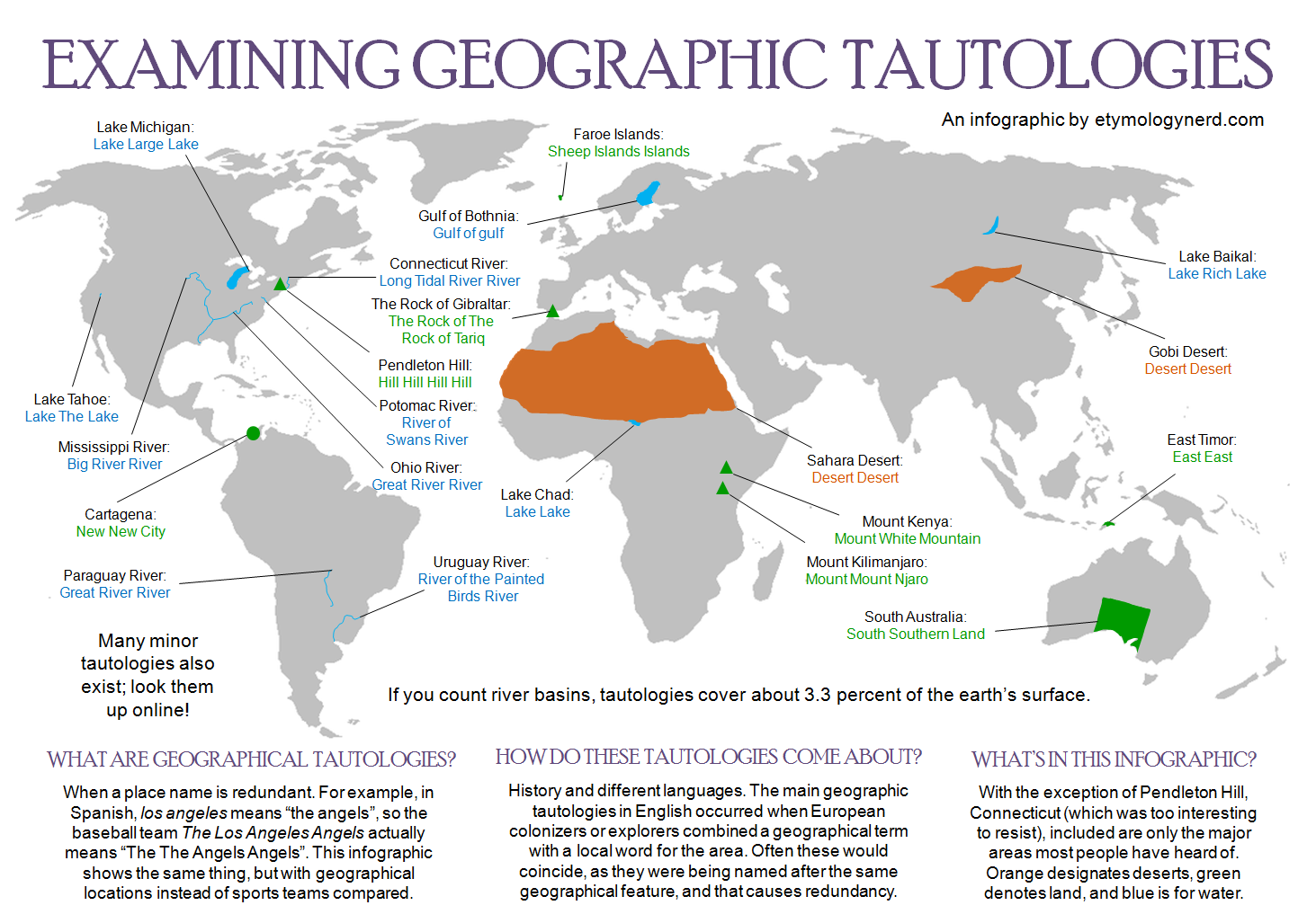 Map of geographic tautologies MAPS Pinterest