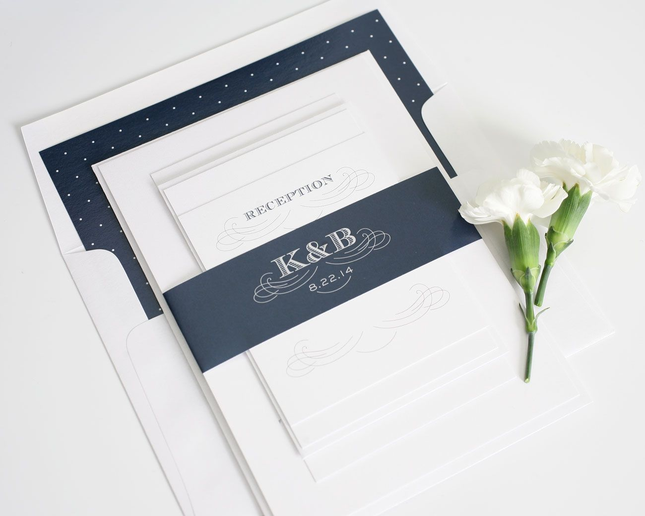 Antique Monogram Wedding Invitations Navy Weddings Monograms And