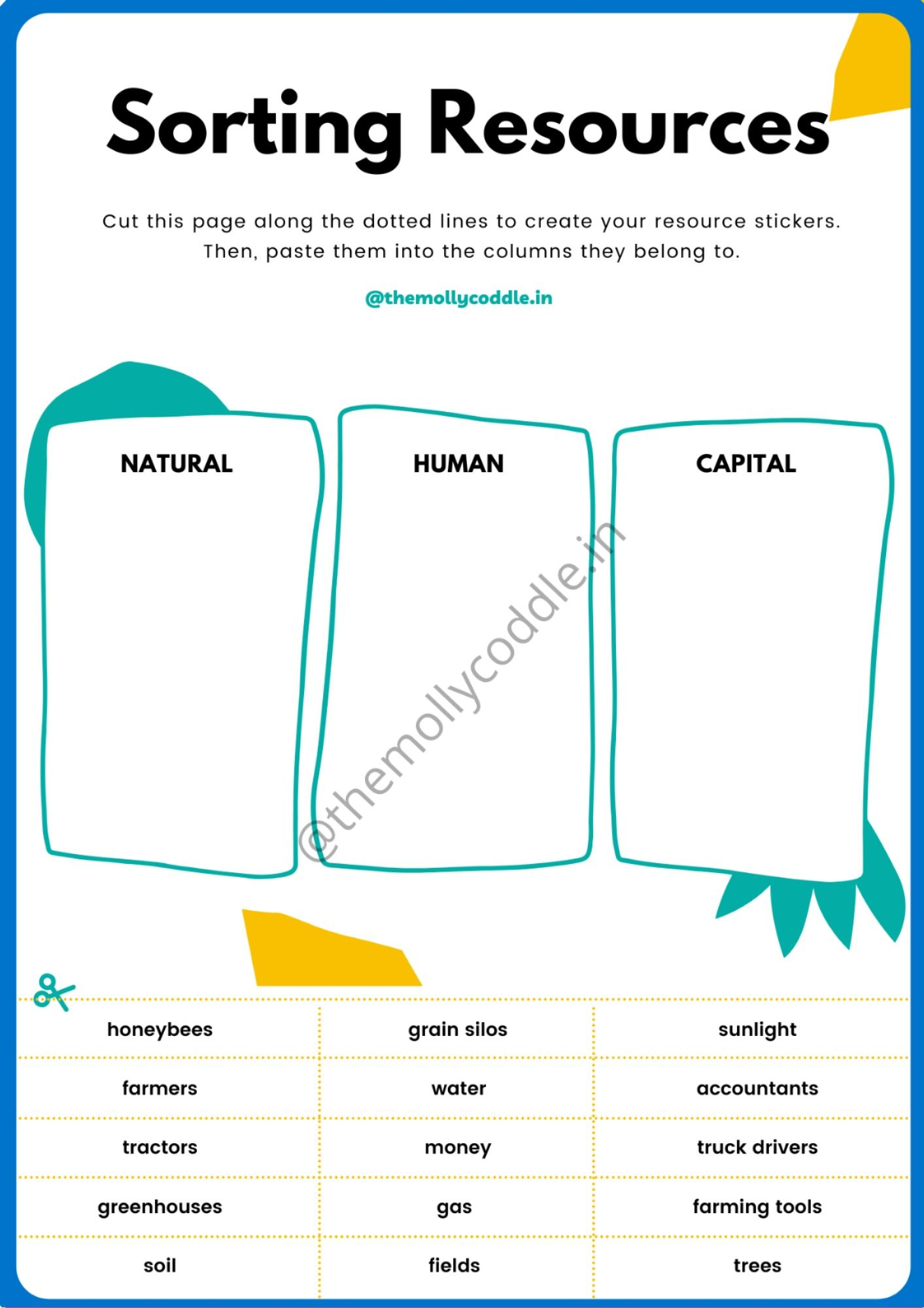 Free Printable Worksheet On Sorting In