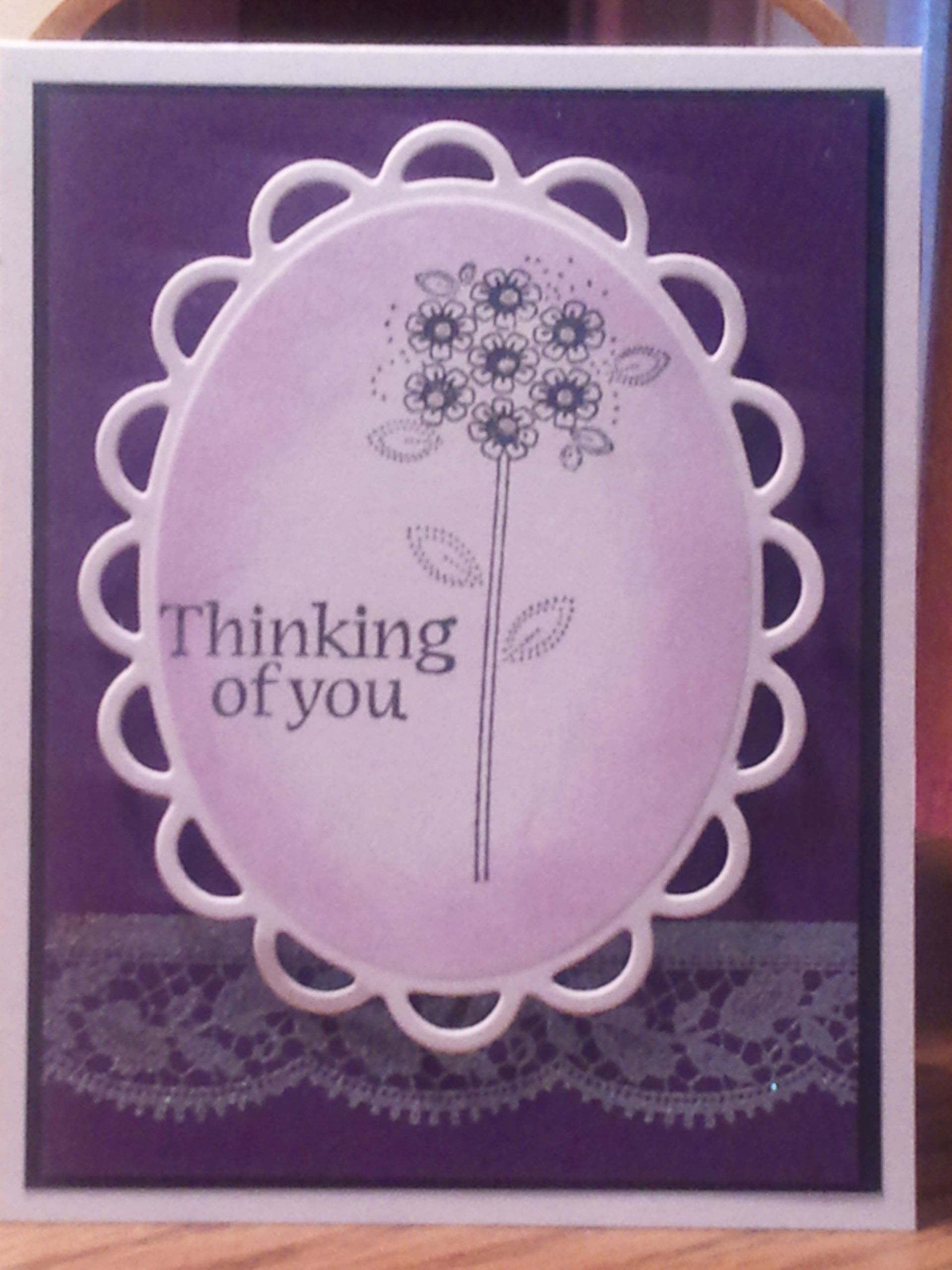 Beautiful Thinking of you card Birthday cards Pinterest