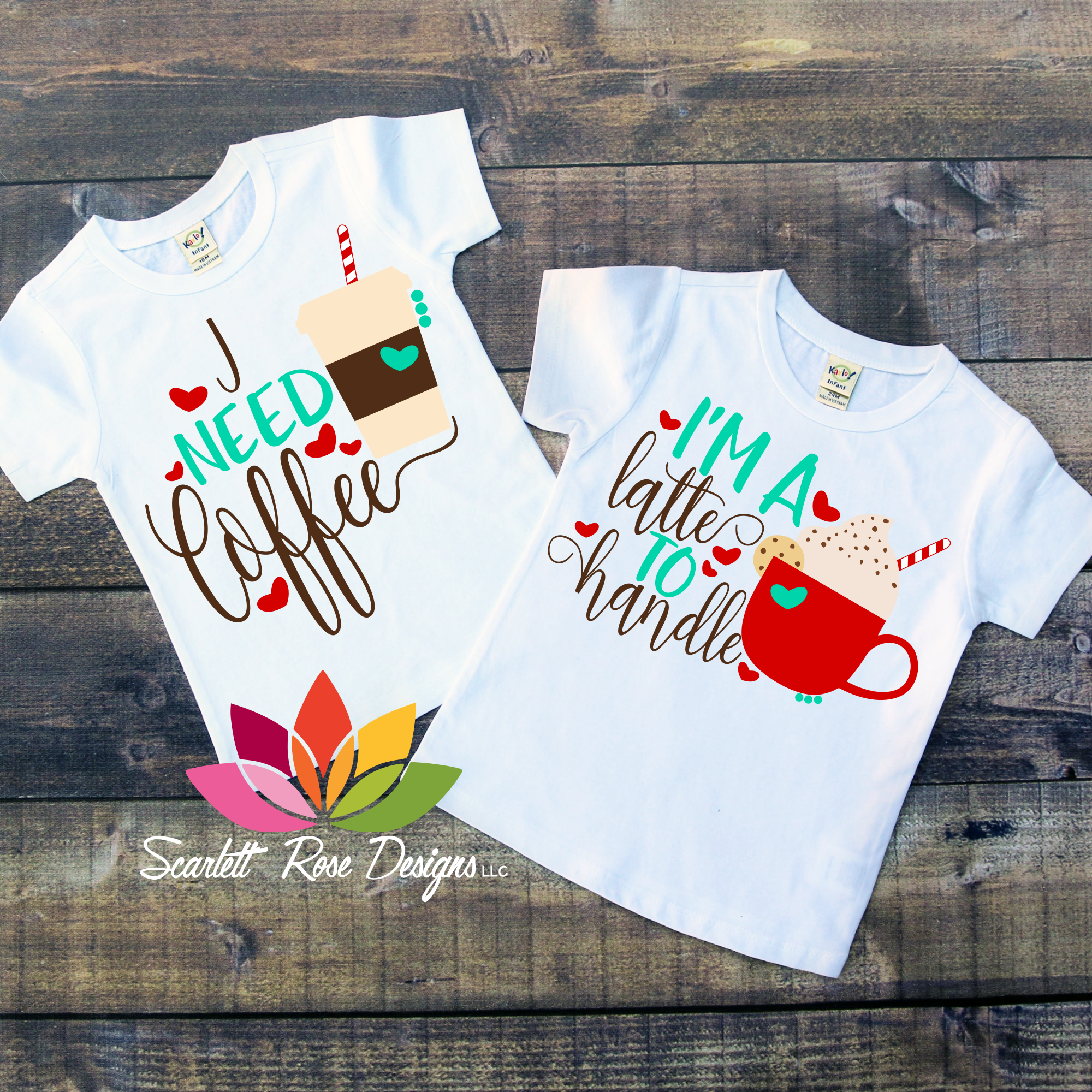 Mom Life I Need Coffee I M A Latte To Handle Machine Embroidery Projects Mommy And Me Christmas Shirts