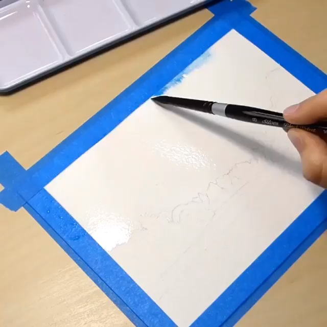 Watercolor Sunset for BEGINNERS