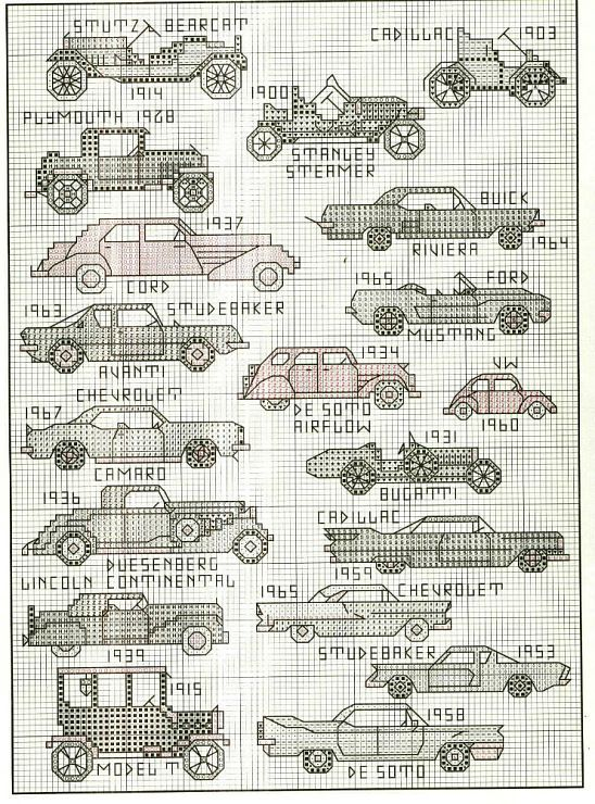 Antique Transportation  Cross Stitch Book