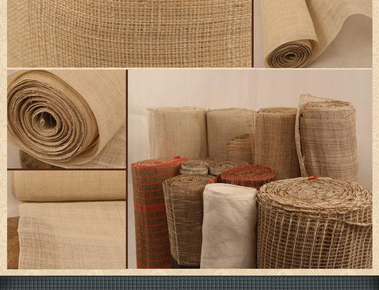 Liuyang ramie fabric, also named Chinese grass fabric or Grass cloth, China grass fabric, ramie linen, ramie fabric, ramie burlap, etc. is a special unique textile fabric only made in China. We has more than 50 years handmade crafts experiences. Welcome to order (jennypump (at) 163.com
