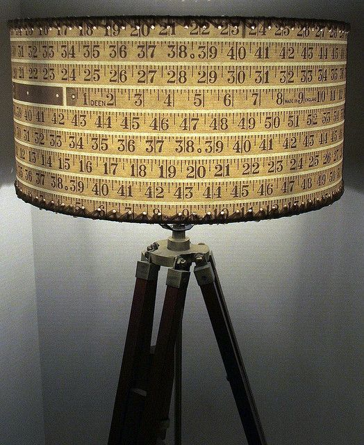 Tape measure lampshade tape measure lights and lampshades tape measure lampshade by light reading via flickr aloadofball Image collections
