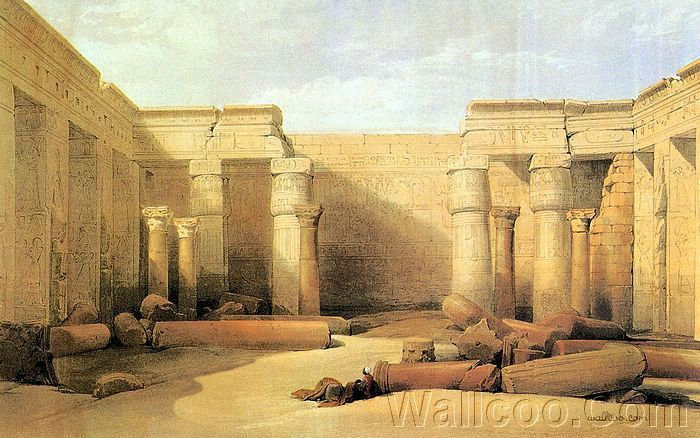 david roberts paintings : the ancient egpyt and egyptian
