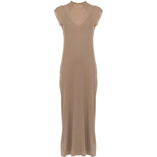 Visit New Thin Rib long dress - Brown Osklen Sale Purchase Sale Shop Geniue Stockist For Sale 3j0lt4