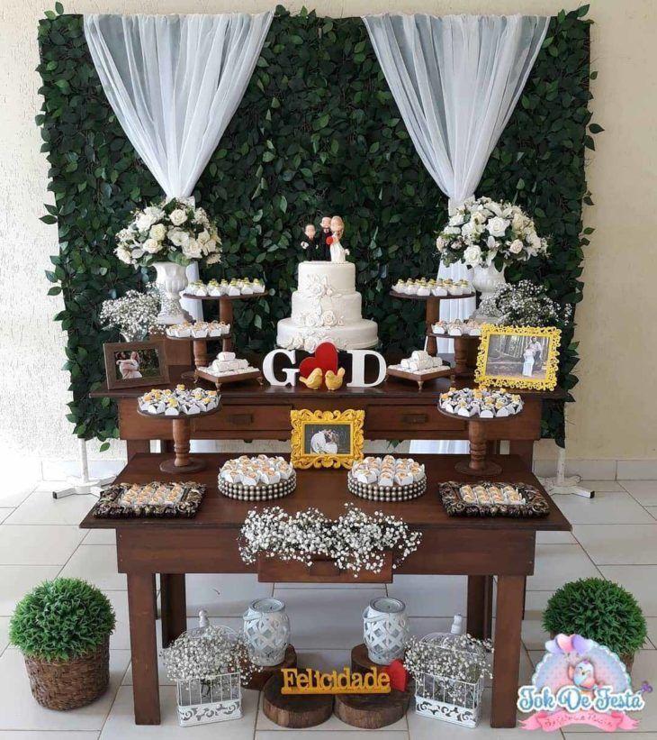 Decoraç u00e3o de casamento simples 100 fotos + tutoriais para o grande dia Detalhes na decoraç u00e3o  -> Fotos De Decoração De Festa De Casamento Civil
