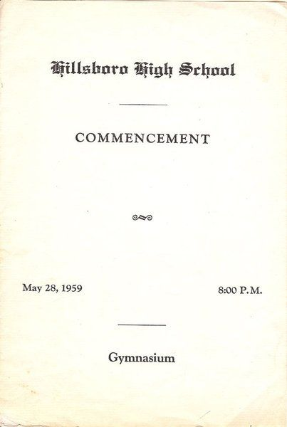Nashville Tennessee Hillsboro High School  Graduation Program