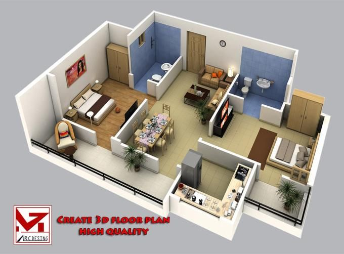 Floor Plan In Sketchup Part - 18: Creates 3d Floor Plan Or Model Sketchup The Fastest, Best For You By  Design_house
