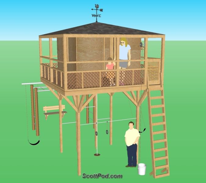 Stilt Playhouse Build A Playhouse Play Houses Playhouse Plans