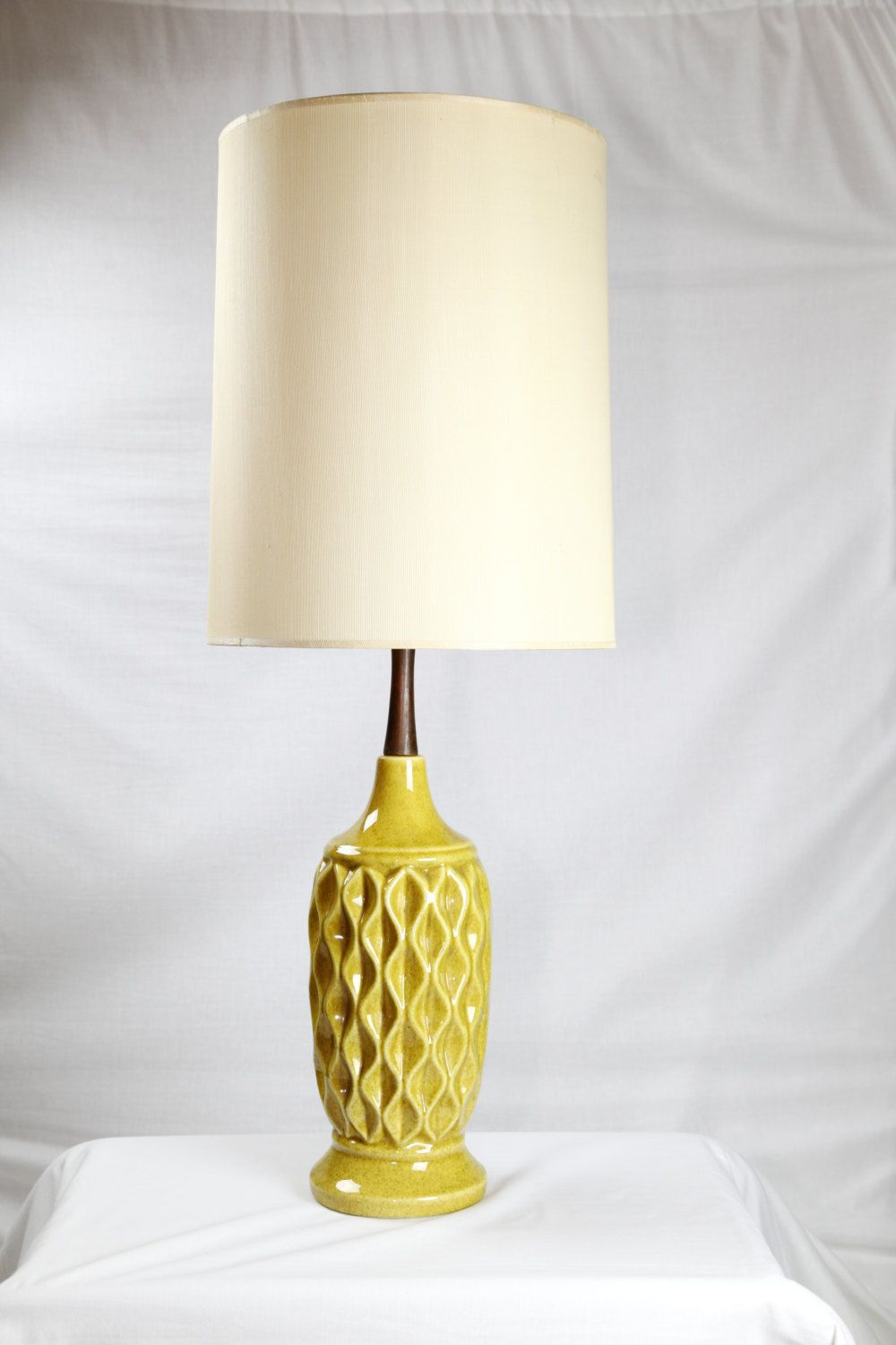 Mid Century Yellow Pottery Lamp By Royal Haeger Etsy Pottery Lamp Yellow Pottery Lamp
