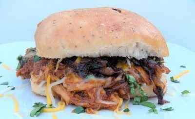 Crockpot BBQ Root Beer Shredded Chicken Sandwiches - 365 Days of Baking
