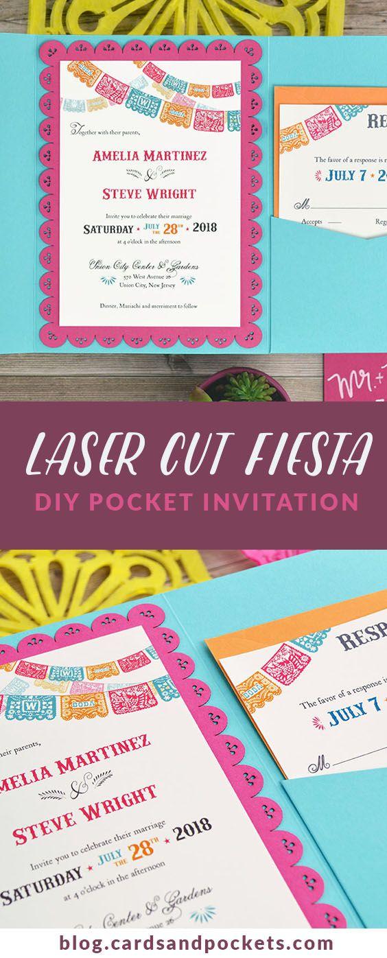 Colorful Fiesta Inspired Diy Wedding Invitation Cards Pockets Design Idea Blog Mexican Wedding Invitations Mexican Party Invitation Diy Wedding Invitation Cards
