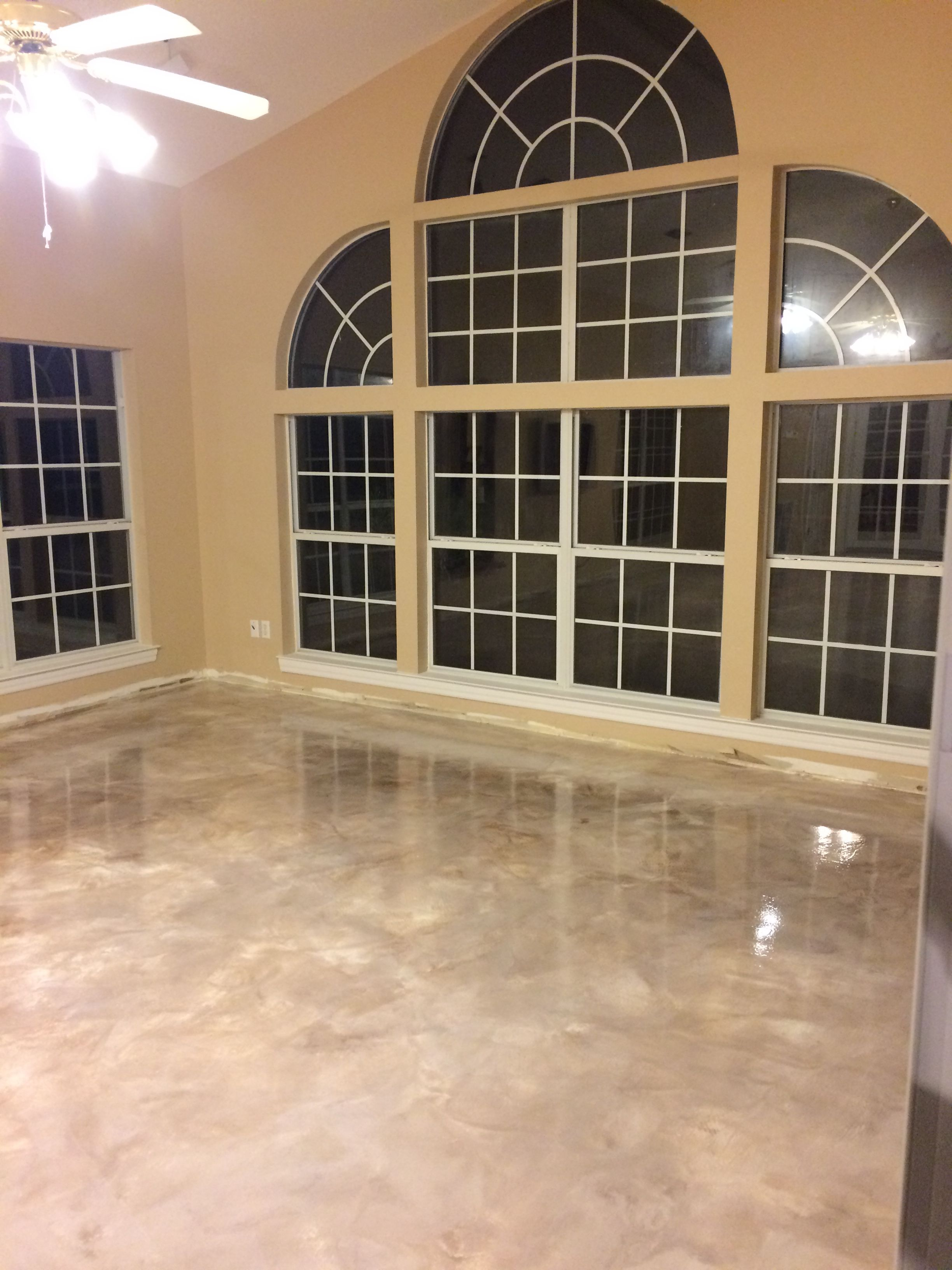 Elegant Basement Epoxy Floors