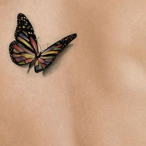 3D Butterfly AS 09 | Tattoo Stencil – Temporary Tattoo ...