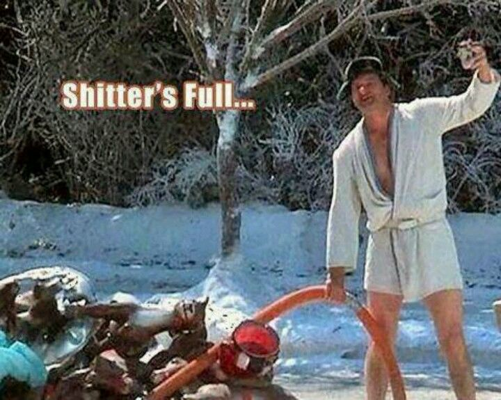 national lampoon s christmas vacation shitter s full honey have you checked our shitter s lately