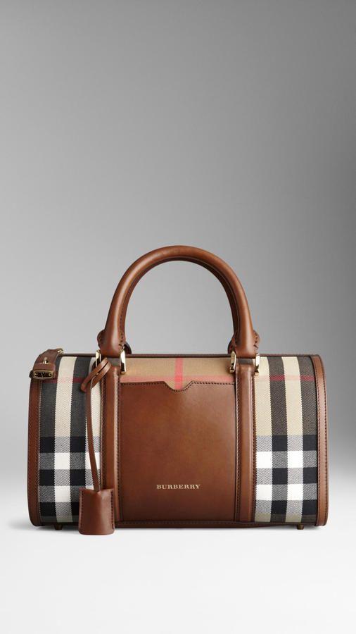 caf1eb0298fb Medium Sartorial House Check Bowling Bag