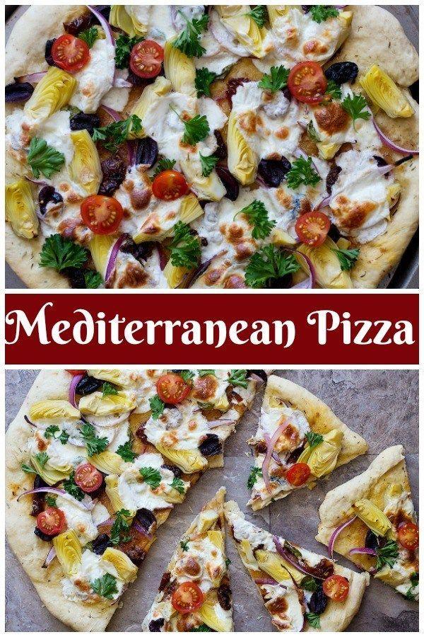 La pizza méditerranéenne est lultime dîner familial simple et frais que tout le monde  La pizza méditerranéenne est lultime dîner...