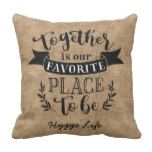 Photo of Hygge Decor – Together Is Favorite Place To Be Throw Pillow   Zazzle.com