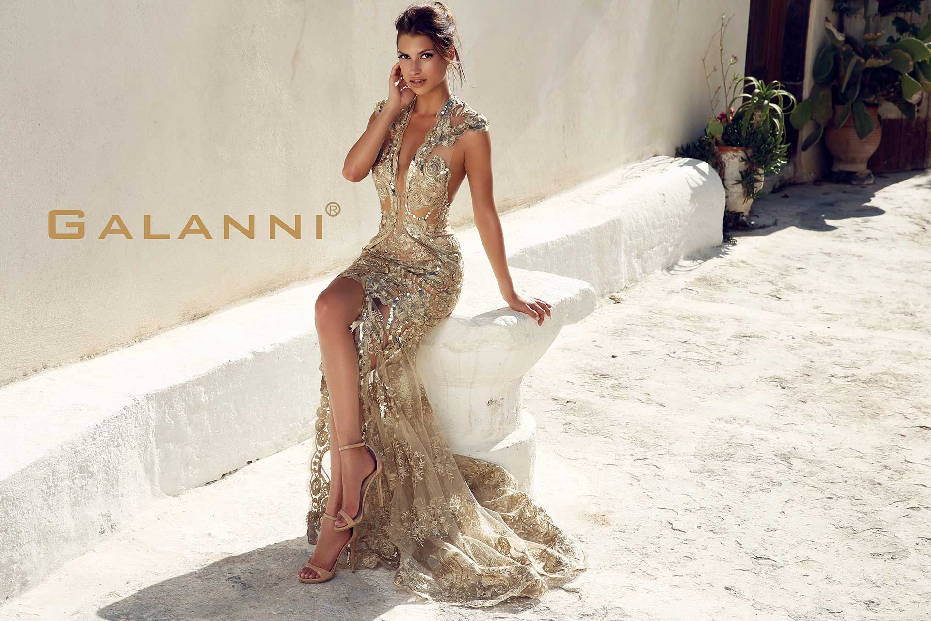 Klevis galanni white dress