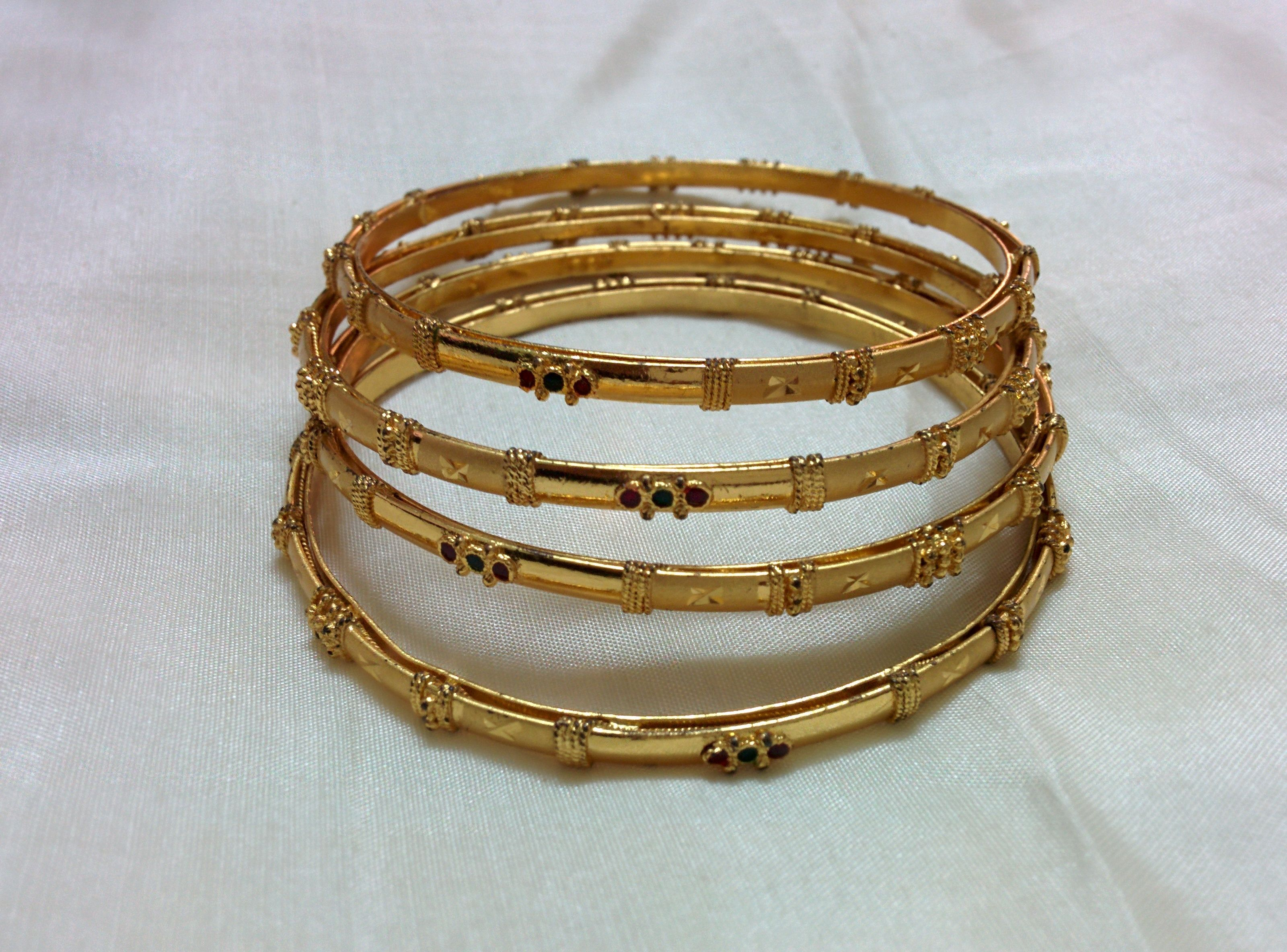 square round set of with semiprecious gold and jewelry stones products bangles